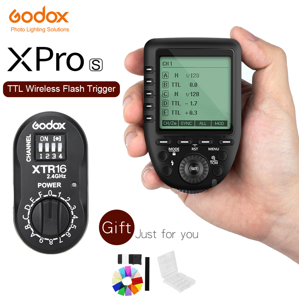 In Stock Godox Xpro-S TTL 2.4G Wireless X system Transmitter Trigger +XTR-16 for Sony A77 II A99 A9 A7R III A350 DE300 DE400 - Mode de vie Photography and Photo Presets