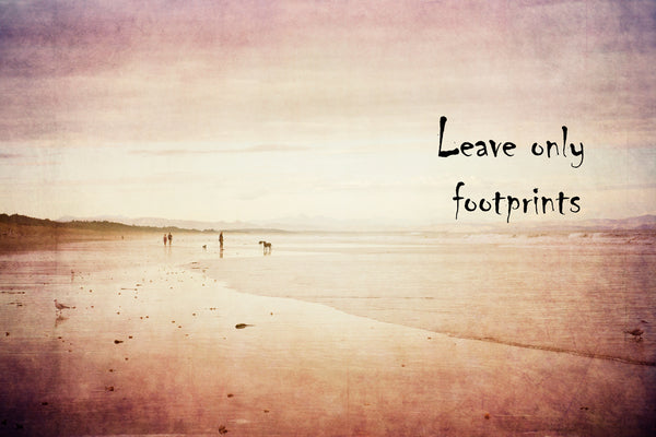 Leave only footprints | Quote Art Print