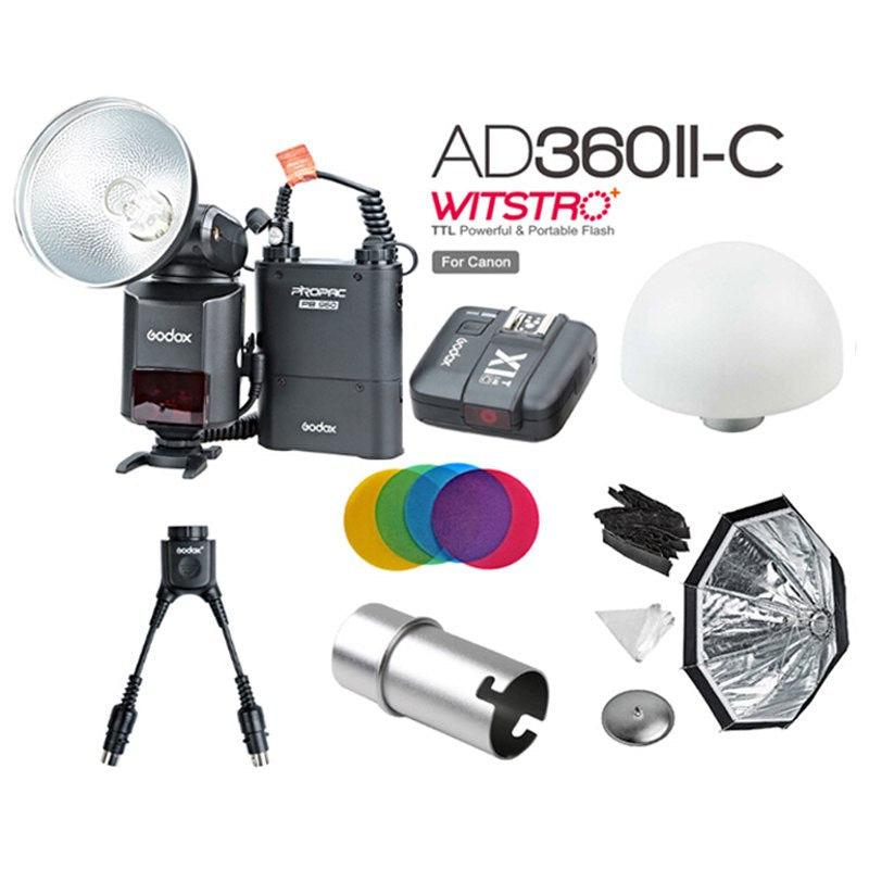 Newest Godox AD-360 MARK II AD360II-C TTL Powerful Speedlite Flash + PB960 Power Pack - Mode de vie Photography and Photo Presets