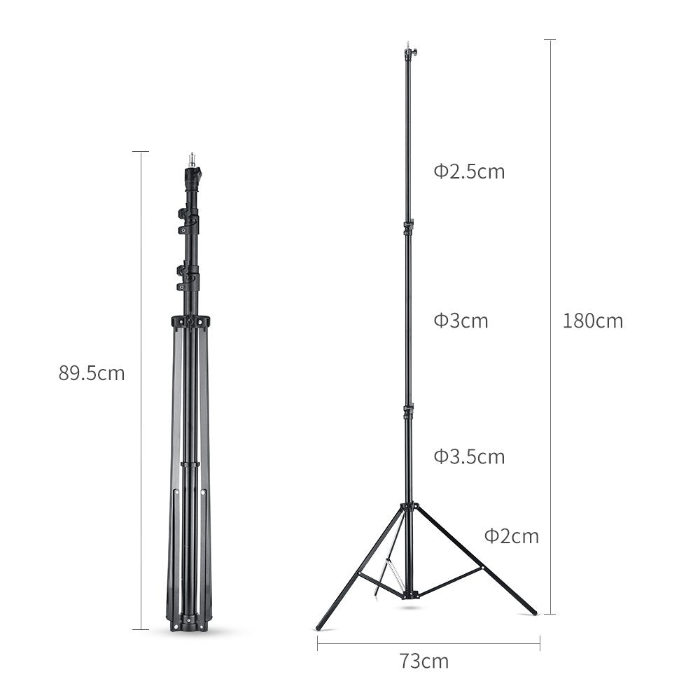 Quick installation 1.8 Meter / 5.9 ft Heavy Duty Impact Air Cushioned Video Studio Light Stand - Mode de vie Photography and Photo Presets