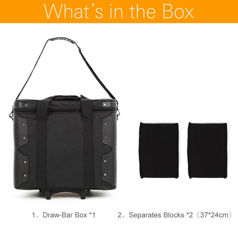 Roller Bag for Photography Photo Video Studio on Location Shoots , Outdoor Shooting Draw-Bar Box Stuido Flash Carry Case