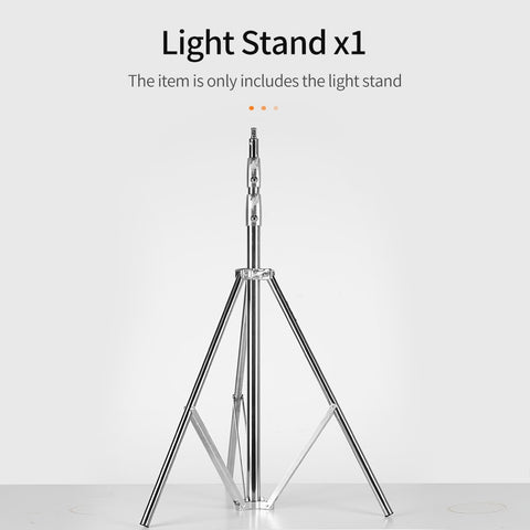 Stainless Steel 2.73M Heavy Duty Light Stand Tripod with for Photo Studio Softbox Video - Mode de vie Photography and Photo Presets