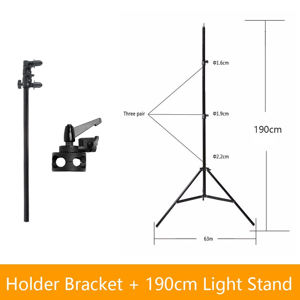 "Studio Photo Holder Bracket Swivel Head Reflector Disc Arm Support 26""-67"" with 190cm - Mode de vie Photography and Photo Presets"