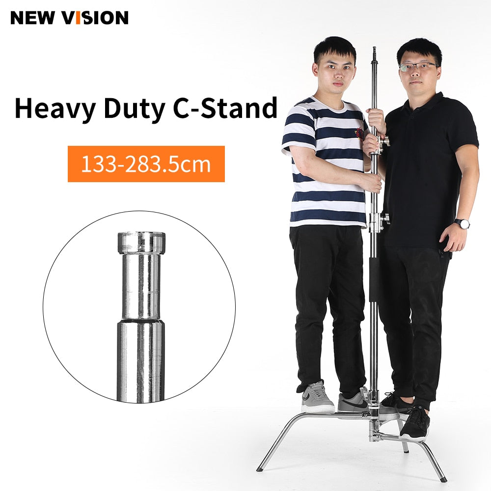 Upgrade Stainless Steel Heavy Duty C-Stand, 4.3 - 9.3 feet 1.3 - 2.83 meters Adjustable - Mode de vie Photography and Photo Presets