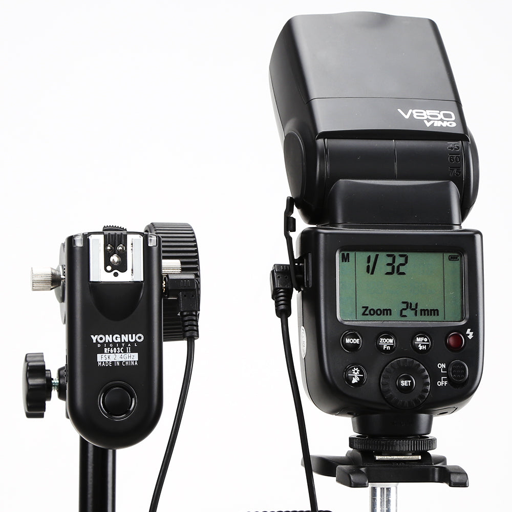 YONGNUO RF-603 II Flash Trigger 2 Transceivers Set Shutter Release for Canon RF-603 II C1 C3 - Mode de vie Photography and Photo Presets