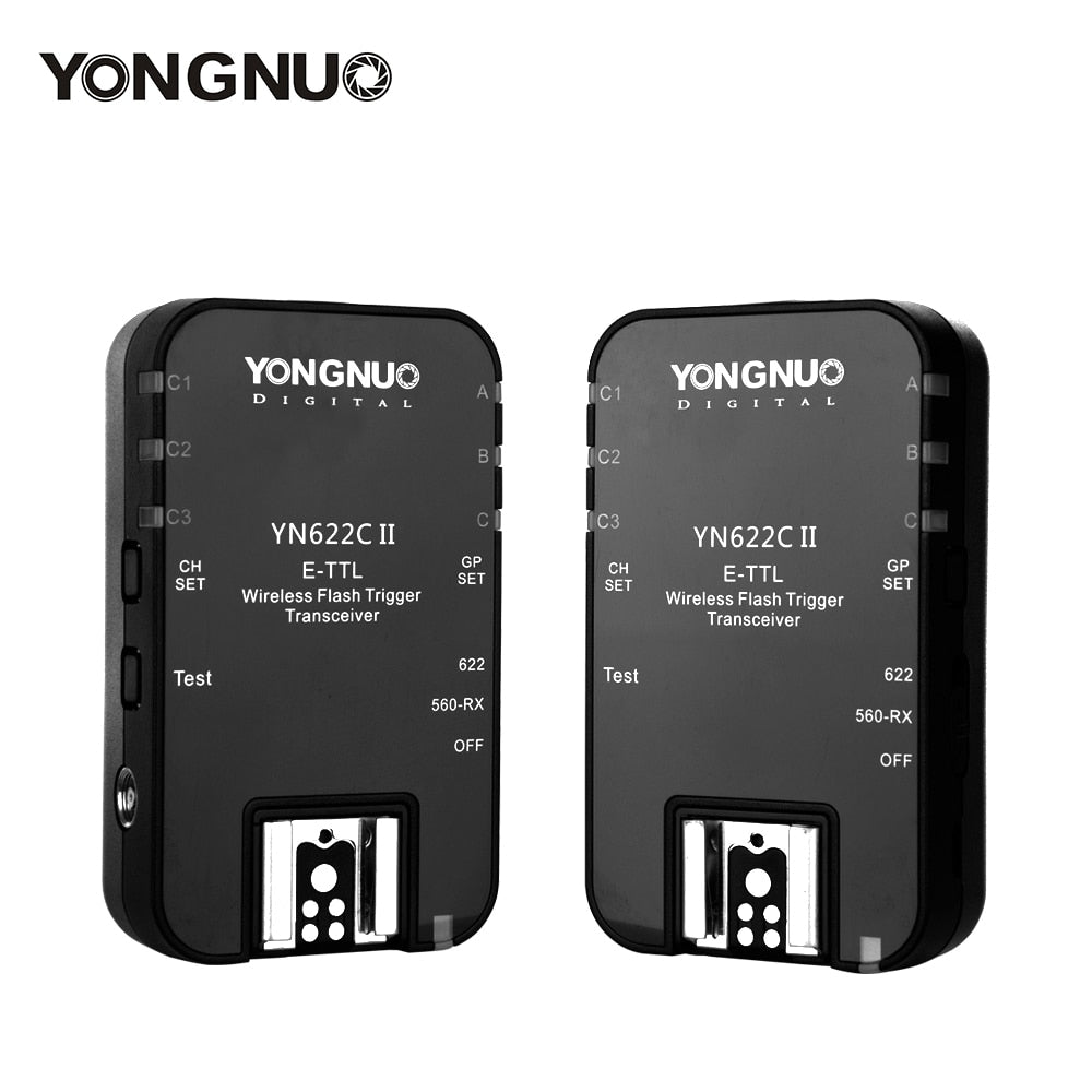 YONGNUO Wireless ETTL Flash Trigger YN622C II with High-speed Sync HSS 1/8000s for Canon camera - Mode de vie Photography and Photo Presets