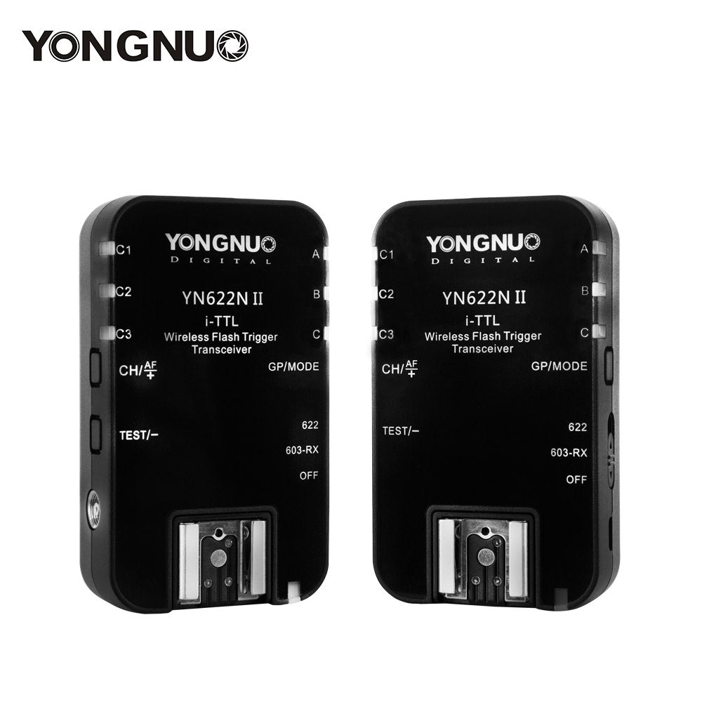 YONGNUO Wireless TTL Flash Trigger YN622N II with High-speed Sync HSS 1/8000s for Nikon Camera - Mode de vie Photography and Photo Presets