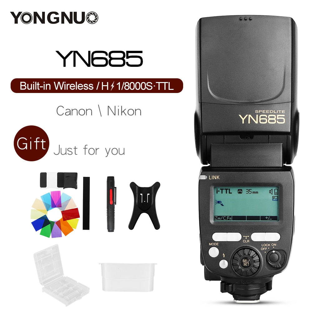 YONGNUO YN685 YN685C YN685N HSS TTL iTTL Wireless 2.4G Speedlite Flash - Mode de vie Photography and Photo Presets