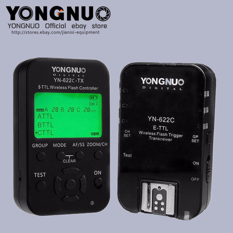 Yongnuo TTL YN622C-TX + 2pcs YN-622C HSS 1/8000 flash trigger for Canon - Mode de vie Photography and Photo Presets