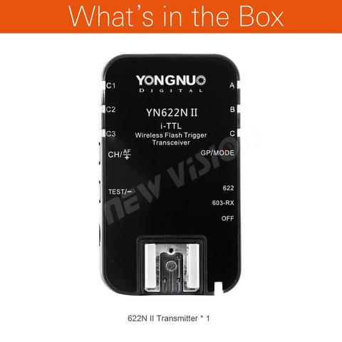 Yongnuo YN-622N II Single Transceiver YN 622N II Wireless TTL Flash Trigger For Nikon D70 D70S D80 D90 D200 D300 D300S D600 D800 - Mode de vie Photography and Photo Presets
