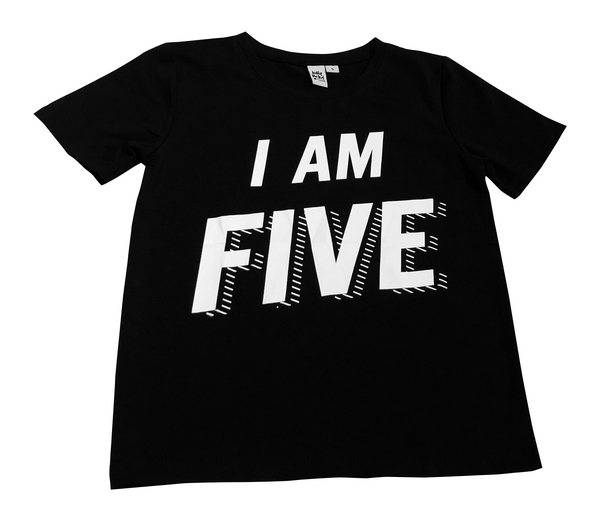 'I Am' Age Black Tees