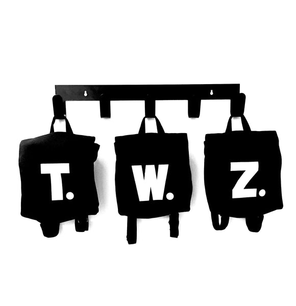 Black Mini Alphabet Satchels - A to Z