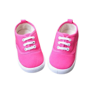 Hot Pink Canvas Shoes