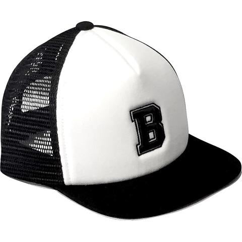 Black Alphabet Trucker Hats