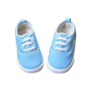 Sky Blue Canvas Shoes
