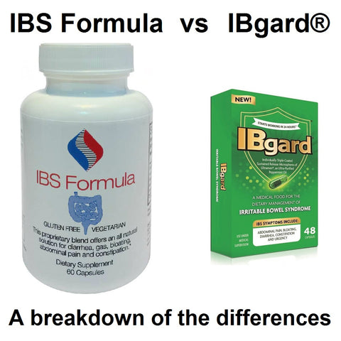 How is IBS Formula different from IBgard® (IB Guard)  as an IBS treatment