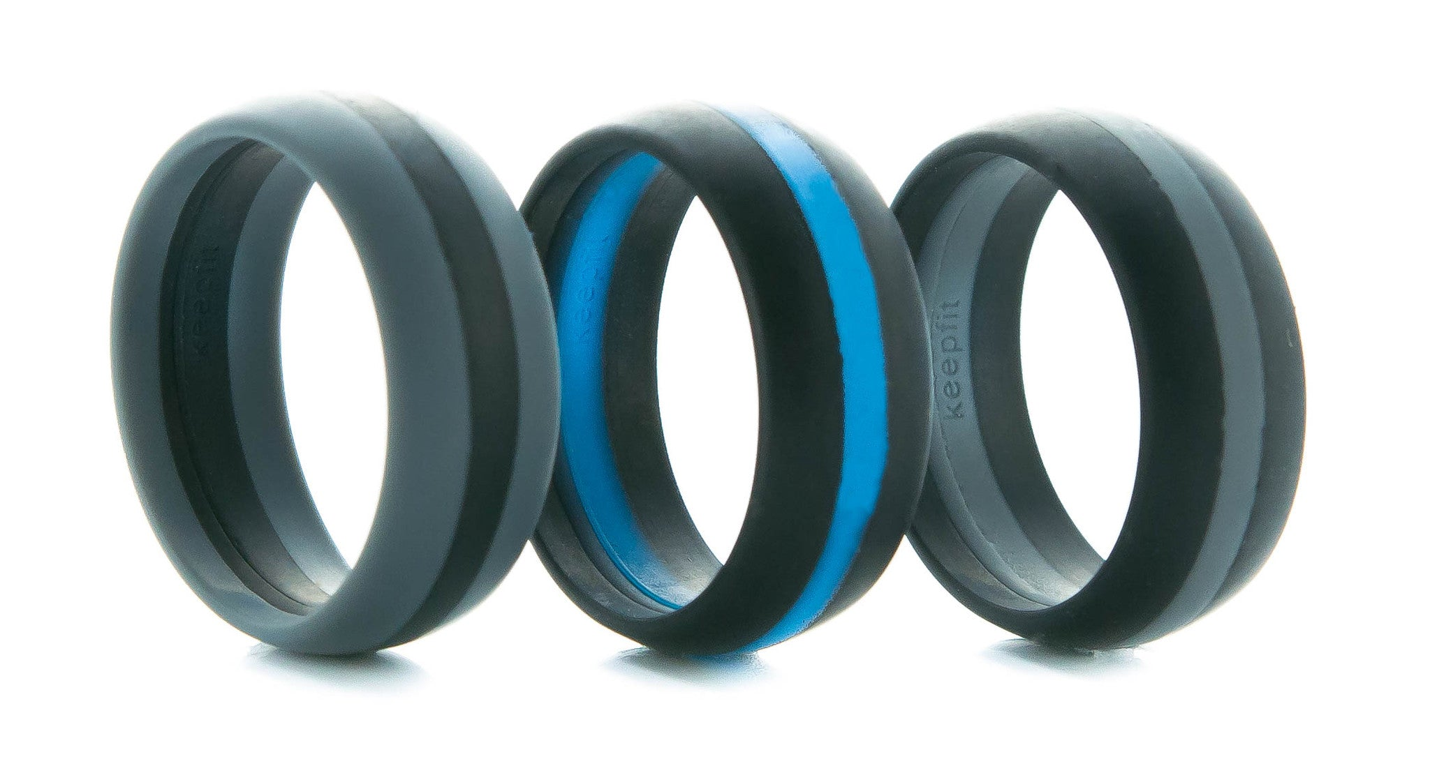 Stylish Thin Line Silicone Wedding Bands Keepfit Products