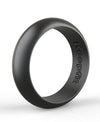 Black Silicone Wedding Band by KeepFit