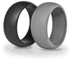 Black and Grey Silicone Wedding Rings By KeepFit