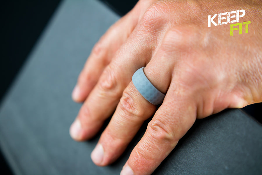 Pebble Silicone Wedding Rings by KeepFit