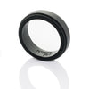 Matte Black Step Edge Silicone Ring