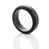 Polish Black Step Edge Silicone Ring