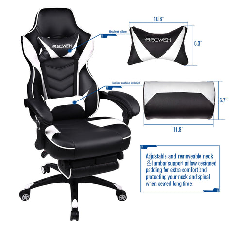 Swell Elecwish Office Gaming Chair Racing Recliner Bucket Seat Ibusinesslaw Wood Chair Design Ideas Ibusinesslaworg