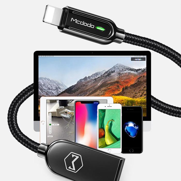 MCDODO SLEEK V3 Lightning Auto Recharge Cable -6FT