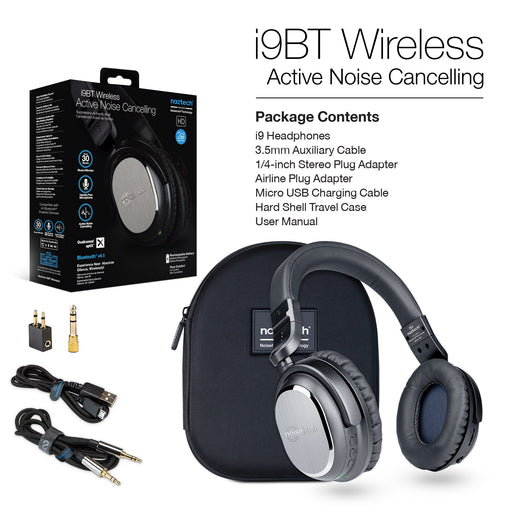 i9 BT Wireless Active Noise Canceling Headphones