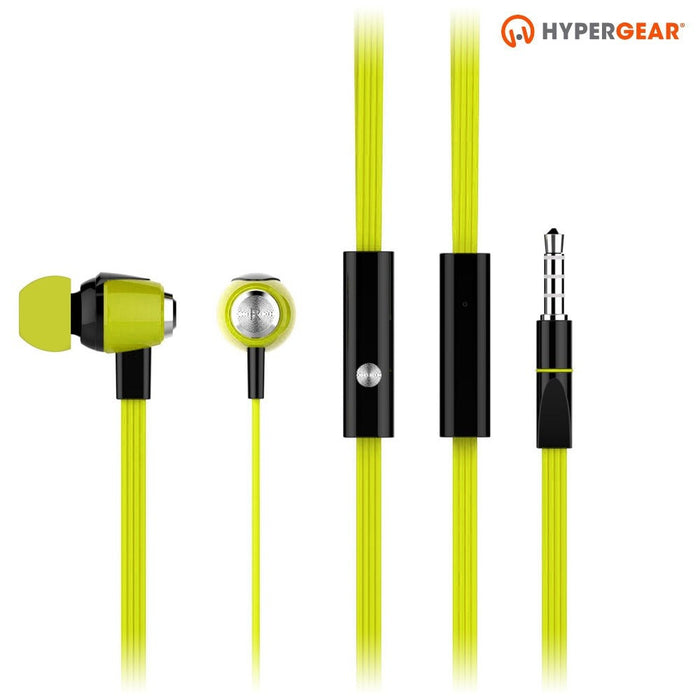 HyperGear dBm Wave 3.5mm Earphones with Mic  -Wired