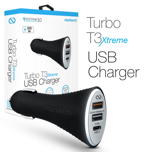 Turbo T3 Xtreme USB-C  Rapid Car Charger - QC 3.0