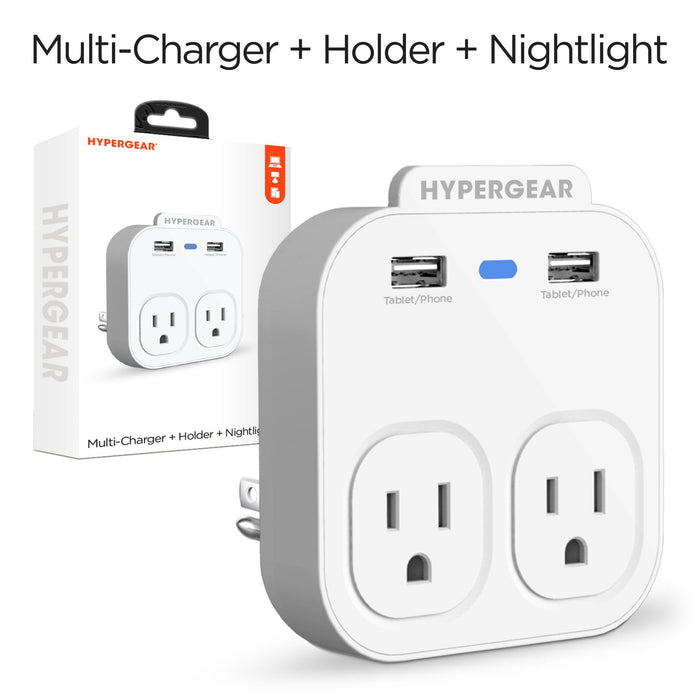 HyperGear Multi-Charger + Holder + Nightlight