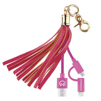Charging Cable Tassel Bag Charm - Pink