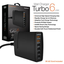Naztech Turbo 6 Wall Charger 10A / Adaptive Quick Charge