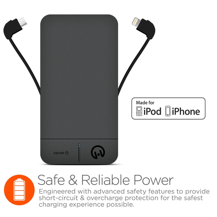 TheDuo 4000mAh Lightning & Micro USB Power Bank
