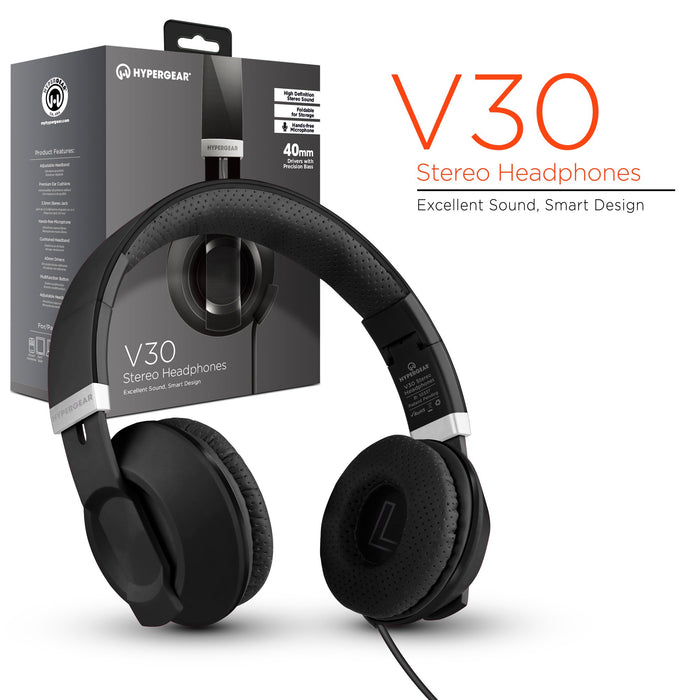 HyperGear V30 Stereo Headphones -Wired