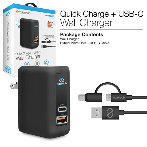 Quick Charge 3.0 + USB-C Wall Charger