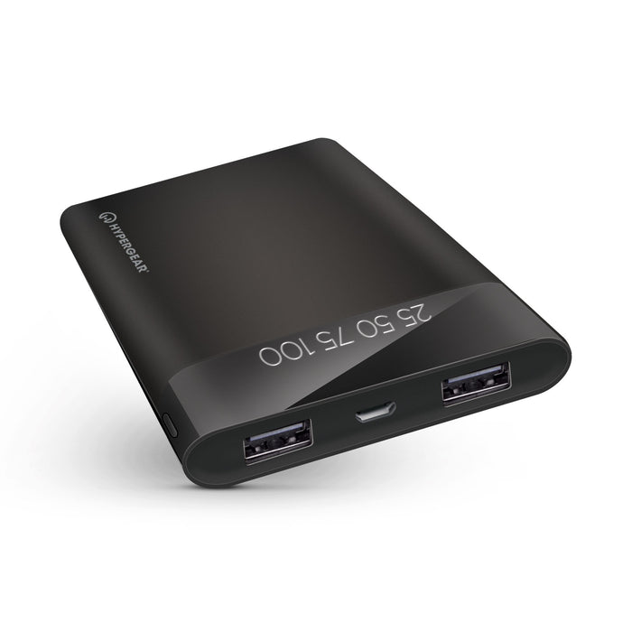 Dual USB Portable Power Bank with Digital Battery Indicator - 12000mAh