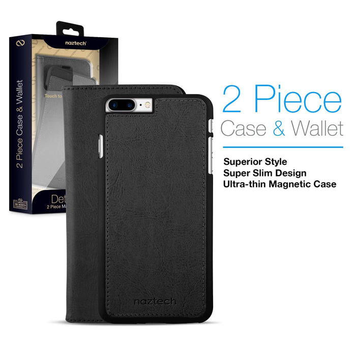 Allure Magnetic Cover + Wallet -iPhone 8 Plus