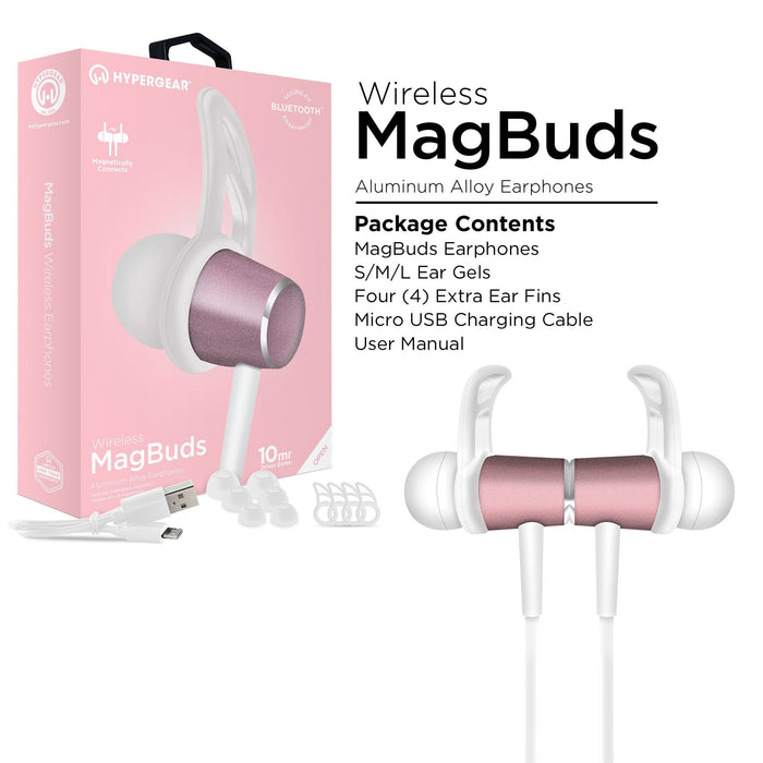 HyperGear MagBuds Wireless Aluminum Alloy Earphones