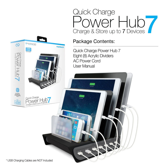 Naztech Adaptive Fast Charge Power Hub 7 Charge Station