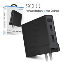 SOLO Portable Battery Power Bank + Wall Charger