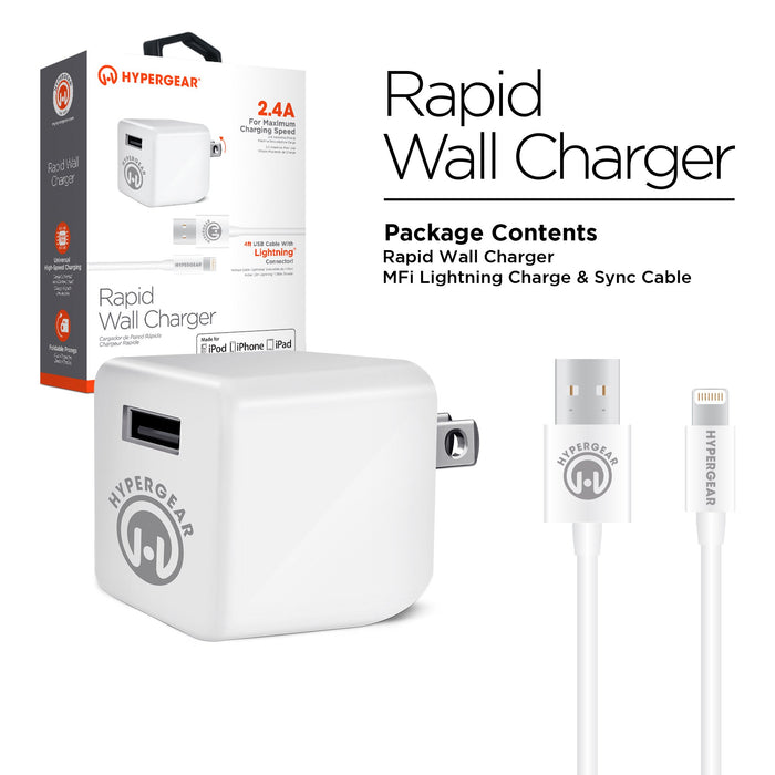 Rapid Wall Charger 2.4A -White