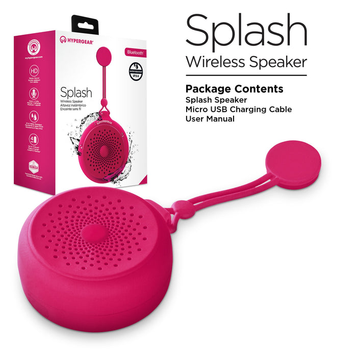 Splash Bluetooth -  Water Resistant Speaker