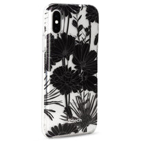 Naztech Black Floral Hybrid PC + TPU Case -iPhone X