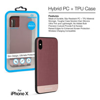 Naztech Hybrid PC + TPU Texture Series Case -iPhone X