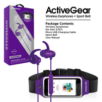 HyperGear ActiveGear Wireless Earphones + Sport Belt Set