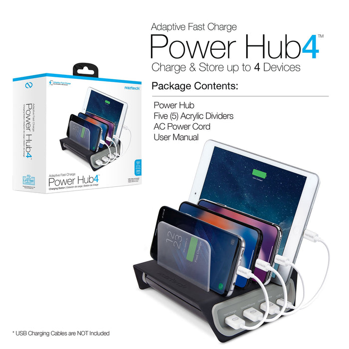 Naztech Adaptive Fast Charge Power Hub 4