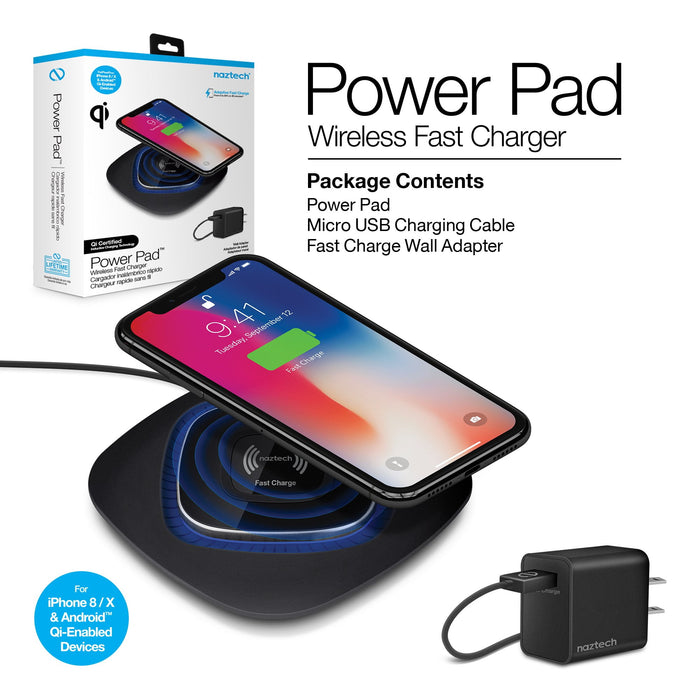 Naztech Power Pad Qi Wireless Fast Charger