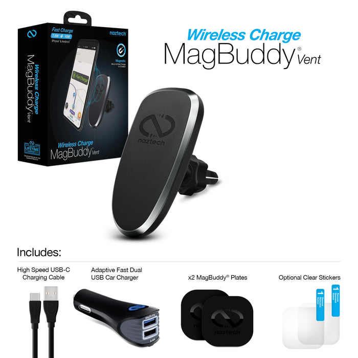 MagBuddy Wireless Charge Vent Mount